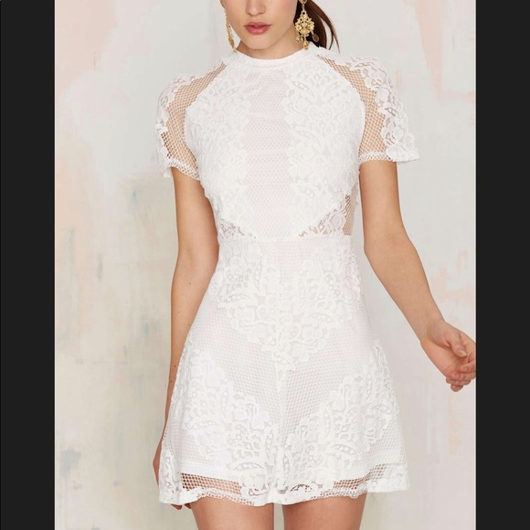 Nasty Gal Dresses & Skirts - Nasty gal Lace Mini Dress NWT!